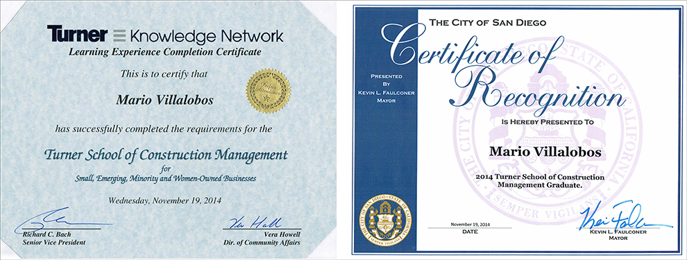Certified by Turner School of Construction Management ...